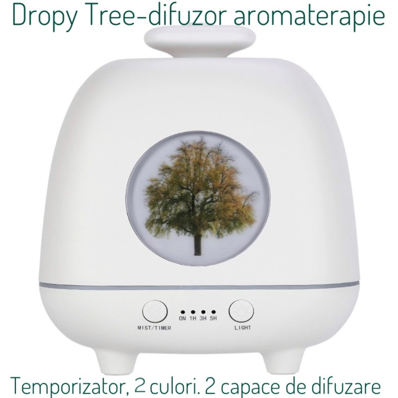 Difuzor aromaterapie Dropy Tree Alb 230 ml