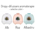 Difuzor aromaterapie Dropy Tree Roz 230 ml