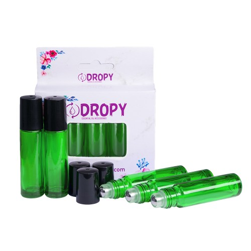 Set 5 sticlute roll on 10 ml verde
