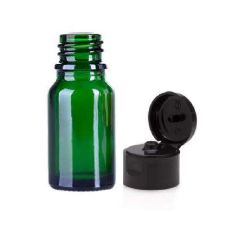 Sticla cu capac flip top 10 ml verde